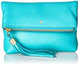 Jack Rogers Gioia Mini Leather Clutch, Caribbean Blue, One Size