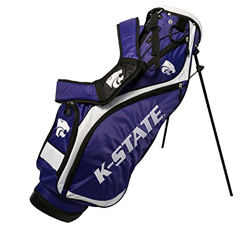 - Team Golf NCAA Kansas State Wildcats Nassau Golf Stand Bag, Lightweight, 4-Way Top w/Integrated Handle, Spring Action Stand, 4 Zipper Pockets, Padded Strap, Umbrella Holder & Removable Rain Hood