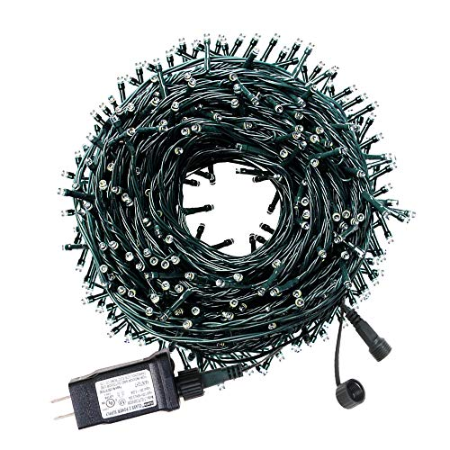 LetsFunny 108ft 300 LED Christmas String Lights, Christmas Lights - UL Certified Outdoor & Indoor Fairy Lights Christmas Tree, Patio, Garden, Party, Wedding, Halloween, Holiday Decoration, Yellow