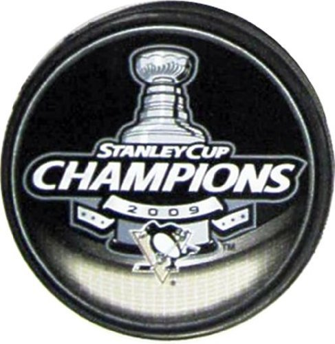 NHL Hockey Inglasco Pittsburgh Penguins 2009 Stanley Cup Champions Puck