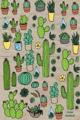 Read Online Cactus Notebook: 120 Blank Lined Page, 6x9 Inches, Beautiful Cactus Flower Design (Volume 5) ebook