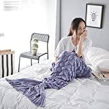 Women Mermaid Tail Blankets Thanksgiving Christmas New Year Gift for Adults Girls Kids both #07