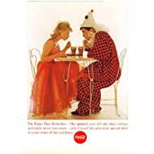 The Pause That Refreshes Coca-Cola ad 1963 blonde & clown costume party