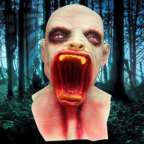 SJ Shop Halloween Scary Horror Zombie Vampire Mask Cosplay Costume Latex Full Face Mask ()