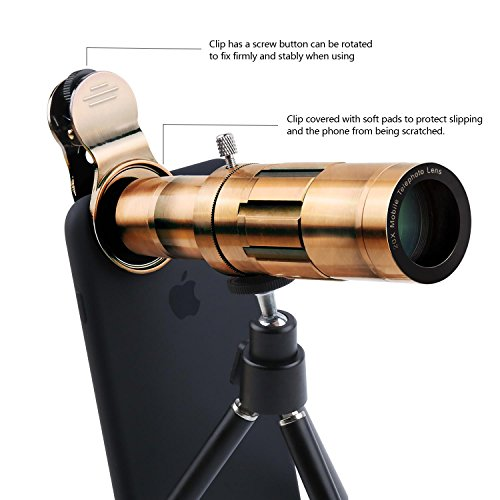 Phone Lens 20X Zoom Telephoto Lens with Universal Clip and ...