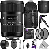 Sigma 18-35mm F1.8 Art DC HSM Lens for CANON DSLR Cameras w/ Advanced Photo and Travel Bundle