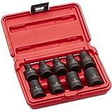 Sunex 2960SE 1/2-Inch Drive External Star Impact Socket Set, Standard, 6-Point, Cr-Mo, E10 - E24, 9-Piece