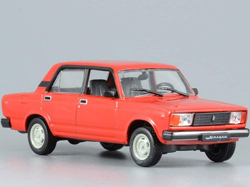 Amazon Com Vaz 2105 Lada Riva Red 1980 Year Soviet Sedan Ussr 1 43 Scale Collectible Model Car Toys Games