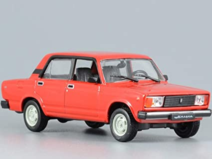 Amazon Com Vaz 2105 Lada Riva Red 1980 Year Soviet Sedan Ussr 1 43