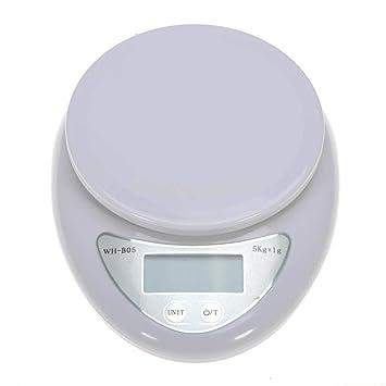 ZHANGYUGE 1G 5Kg Balanza de Cocina balanza Digital LCD Balanza electrónica Regla Báscula Peso Medición Alimentado