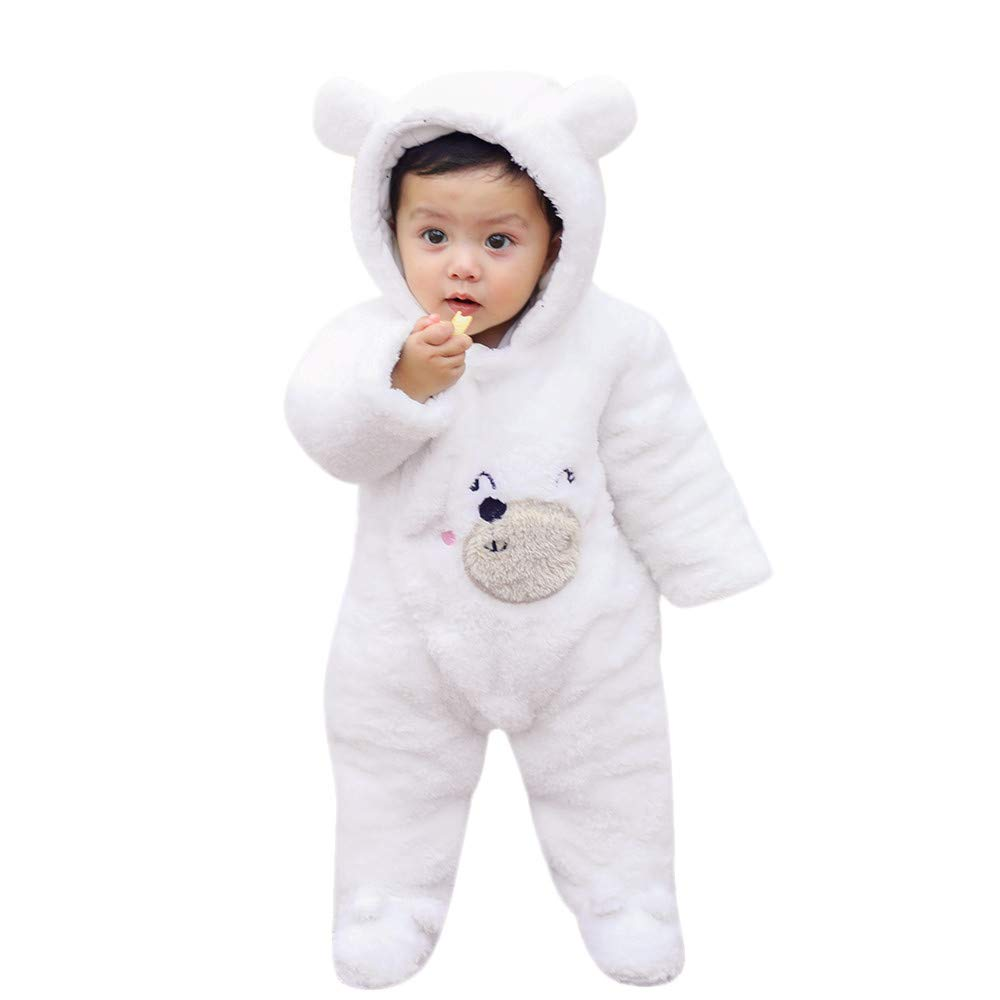 0 Months-12 Months Featurestop Unisex Baby Cotton Blend Footed Pajamas