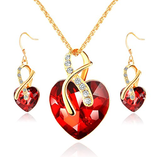 Morenitor Valentines Necklace Earrings Accessories
