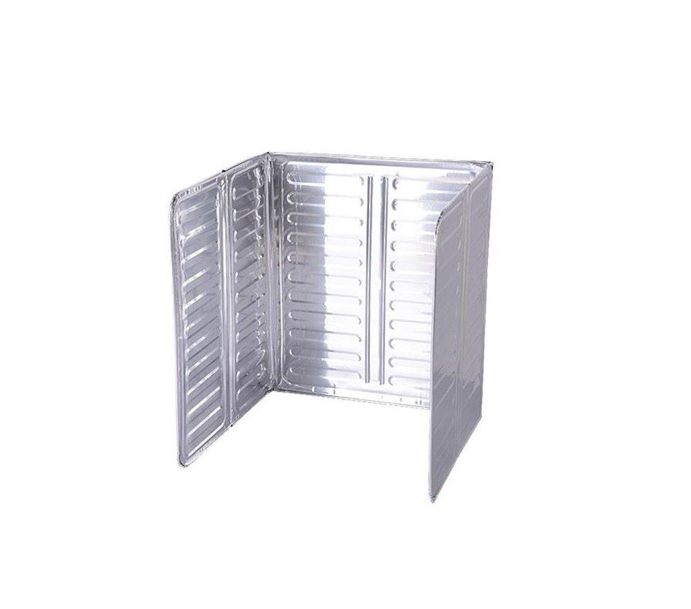 JUNGEN Folding Splatter Screen for Kitchen Protect Walls and Floors From Oil Splashing Aluminum Foil