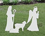 Front Yard Originals Medium Angel, Shepherd, and Sheep Add-on Set