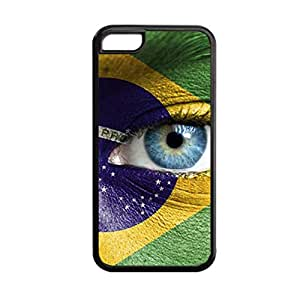 Generic Durable Soft Funny Phone Case For Child Print With Brazil For Apple Iphone 5C Choose Design 1