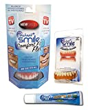 Instant Smile Comfort Flex Upper and Lower Veneers Complete Set with Denture Cream