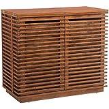 Zuo 100670 ZuoMod Linea Bar Cabinet, Walnut