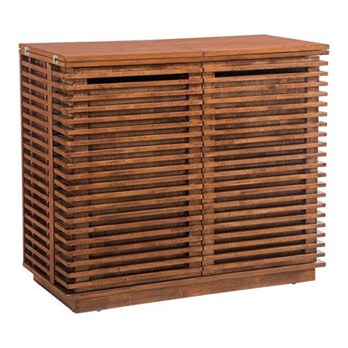 Zuo 100670 Linea Bar Cabinet, Walnut - 200 Wine Cabinet