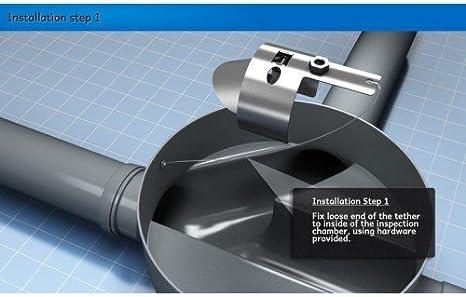 Ratflap Acier inoxydable Rat pr/évention rapide 10,2/cm 100/mm Argile ou plastique tuyau d/évacuation