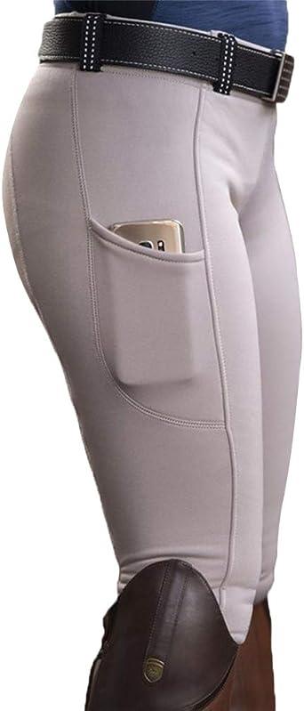 Minetom Pantalon D/Équitation pour Femmes Taille Haute pour Les Cavaliers Skinny Pantalon De Tir /À larc Leggings avec Poche