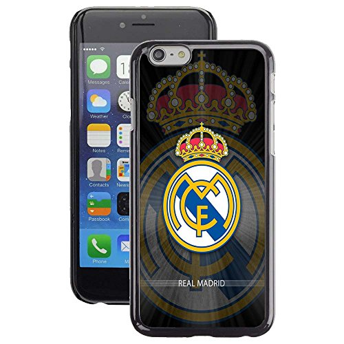 iPhone 5 Case, iPhone 5S Cover, iPhone SE Cases, Real Madrid BW FC Soccer Team Logo 70 Drop Protection Never Fade Anti Slip Scratchproof Black Hard Plastic - Champion Rose Gold