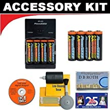 Deluxe Accessory Kit with Charger & 8 AA Rechargeable Batteries For The Sony Cybershot DSC-P93, DSC-P92, DSC-P73, DSC-P72, DSC-P71, DSC-P52, DSC-P51, DSC-P50, DSC-P41, DSC-P32, DSC-P31, DSC-P30, DSC-P20 Digital Cameras