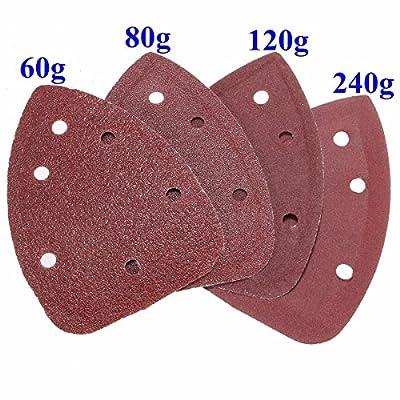 INSMA 40pcs 60-240 Grit Mouse Sanding Sheets for Black Decker Detail Palm Sander
