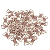Artibetter 50pcs Replacement elastic bandage clips stretch metal clasps