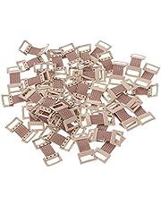 Healifty Elastic Bandage Clips Stretch Metal Clasps 50pcs