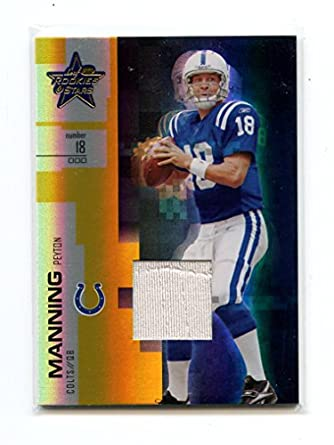 size 40 c8a3e ccaa4 2007 Leaf Rookies and Stars Materials Gold #80 Peyton ...