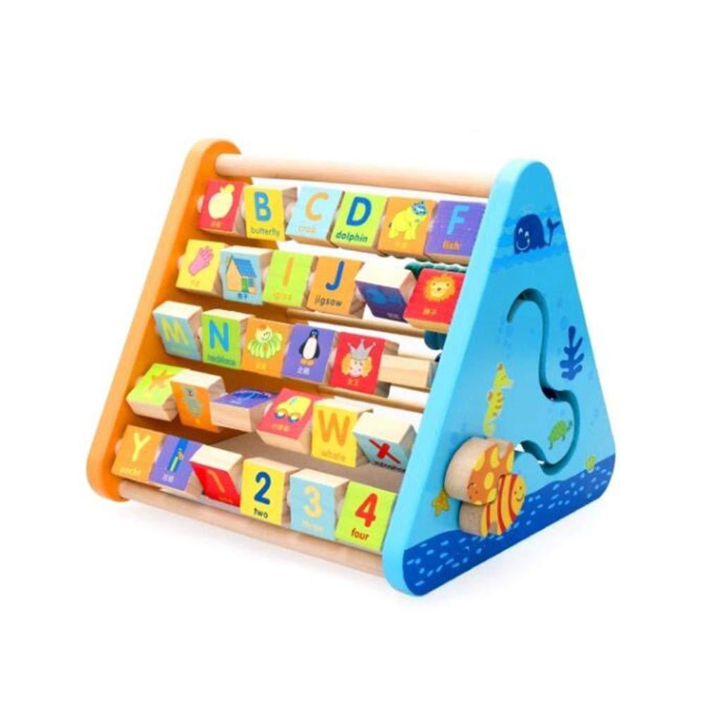 QXMEI Kinder Bausteine Spielzeug Holzpuzzle Multifunktionale Lernrahmen Größe: 11,2  9,6  9,4 Zoll