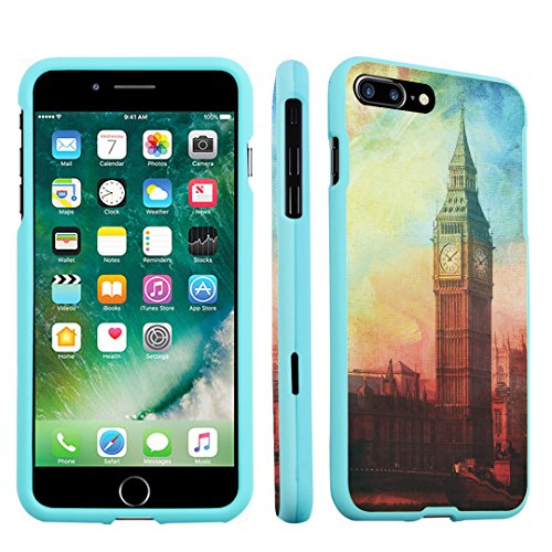 iPhone 7 Plus Case, DuroCase Hard Case Mint for Apple iPhone 7 PLUS (Released in 2016) - (Big Ben - London In Tiffanys