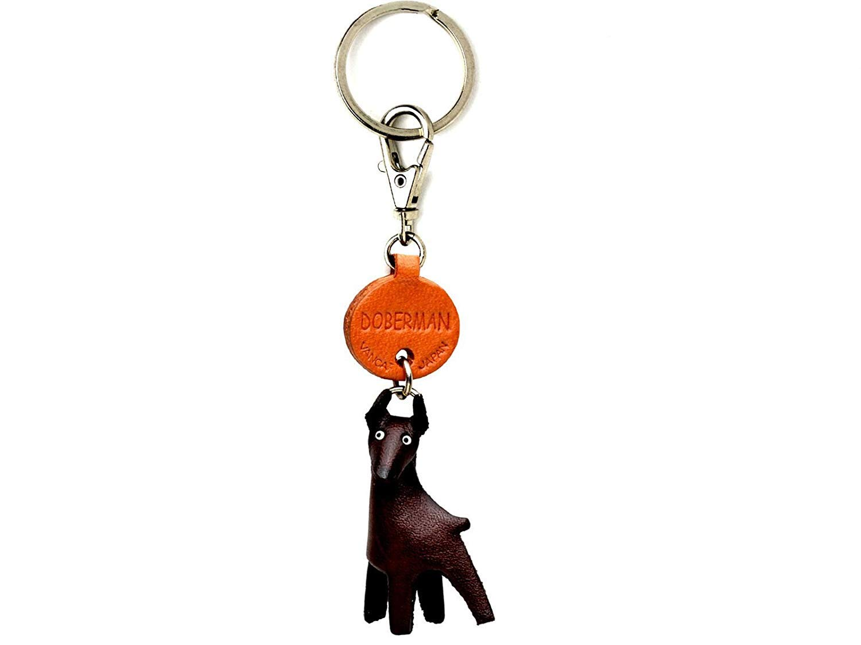 Cuero perro Doberman pequeñas llavero VANCA Craft-cobrarse ...