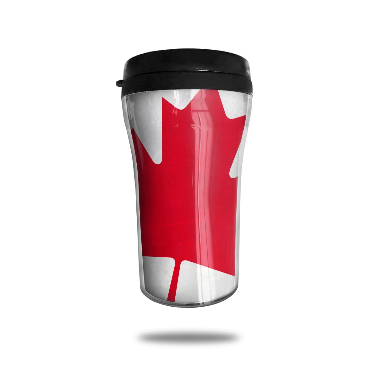 FTRGRAFE Canada Flag Travel Coffee Mug 3D Printed Portable Vacuum Cup,Insulated Tea Cup Water Bottle Tumblers for Drinking with Lid 8.54 Oz (250 Ml)