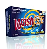WashEZE 3-in-1 Laundry Sheets, 40 Count, Original Scent and Includes Detergent, Fabric Softener and Static Guard