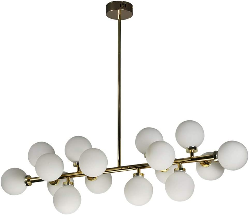 Modern Nordic Style Glass Ball Pendant Light Ceiling Chandelier Fixture Living Room Restaurant Decor