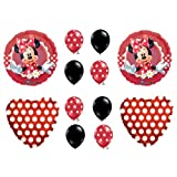 1 X MAD ABOUT MINNIE MOUSE BIRTHDAY PARTY Balloons Decorations Supplies