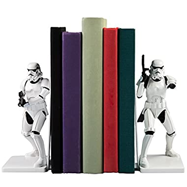 Star Wars Stormtrooper Decorative Bookends - Resin Statues 6.75  Tall