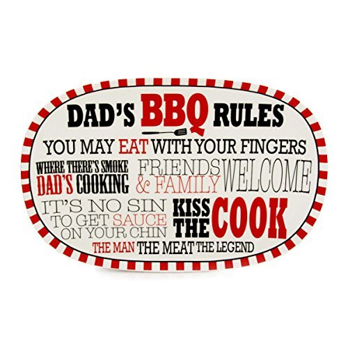 Dads BBQ Platter - Our Name Is Mud by Lorrie Veasey