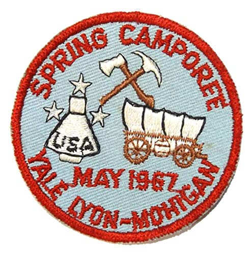Yale Spring - Vintage 1967 Spring Camboree Yale Lyon-Mohigan Boy Scouts Emroidered Cloth Patch