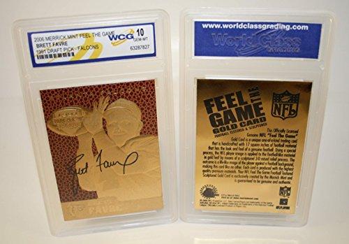 BRETT FAVRE 1991 Draft Pick FEEL THE GAME Gold Card Rookie - Graded GEM MINT - Shops Merrick