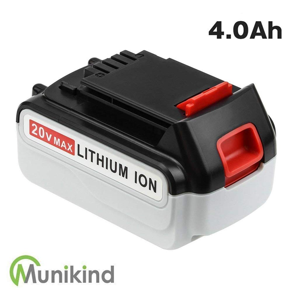 Munikind 4000mAh LBXR20 Replace for Black and Decker 20V Max Battery LBXR20-OPE LB20 LBX20 LBX4020 LB2X4020-OPE Cordless Tool