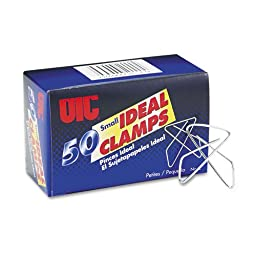 Officemate Products - Officemate - No. 2 Ideal Clamps, Smooth, Steel Wire, Silver, 50/Box - Sold As 1 Box - Avoid puncturing important documents. - As reliable and secure as a staple. - Non-marking smooth finish.