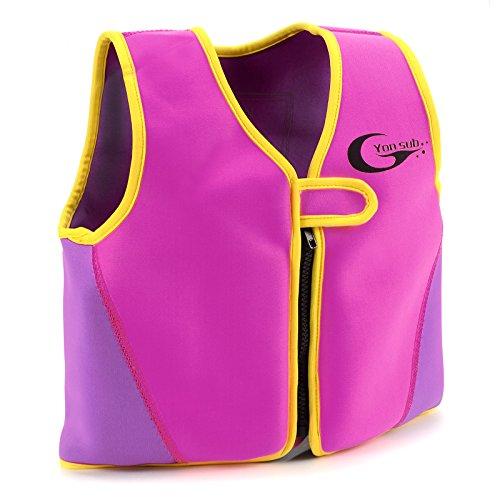 Swimwesten Kinder Schwimmweste Kinder Schwimmhilfe S rosa Floating Jacket