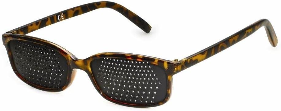 Gafas estenopeicas 415-IMB - bifocales Rejilla - marrón mármol - Incl. Accesorio