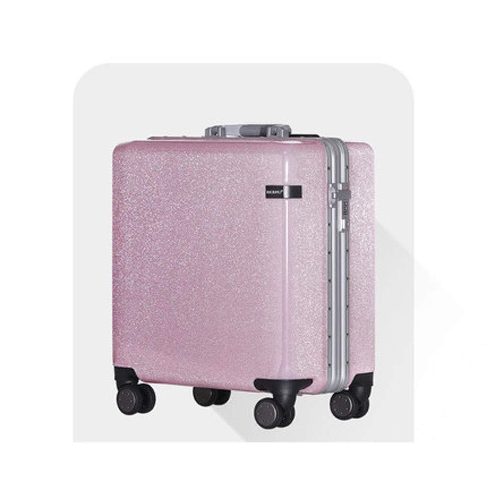 フラッシュレディ搭乗パスワードボックス18インチ20インチユニバーサルホイールアルミフレームスーツケースメンズトロリーケース 18inch Pink B07PGHPCZC
