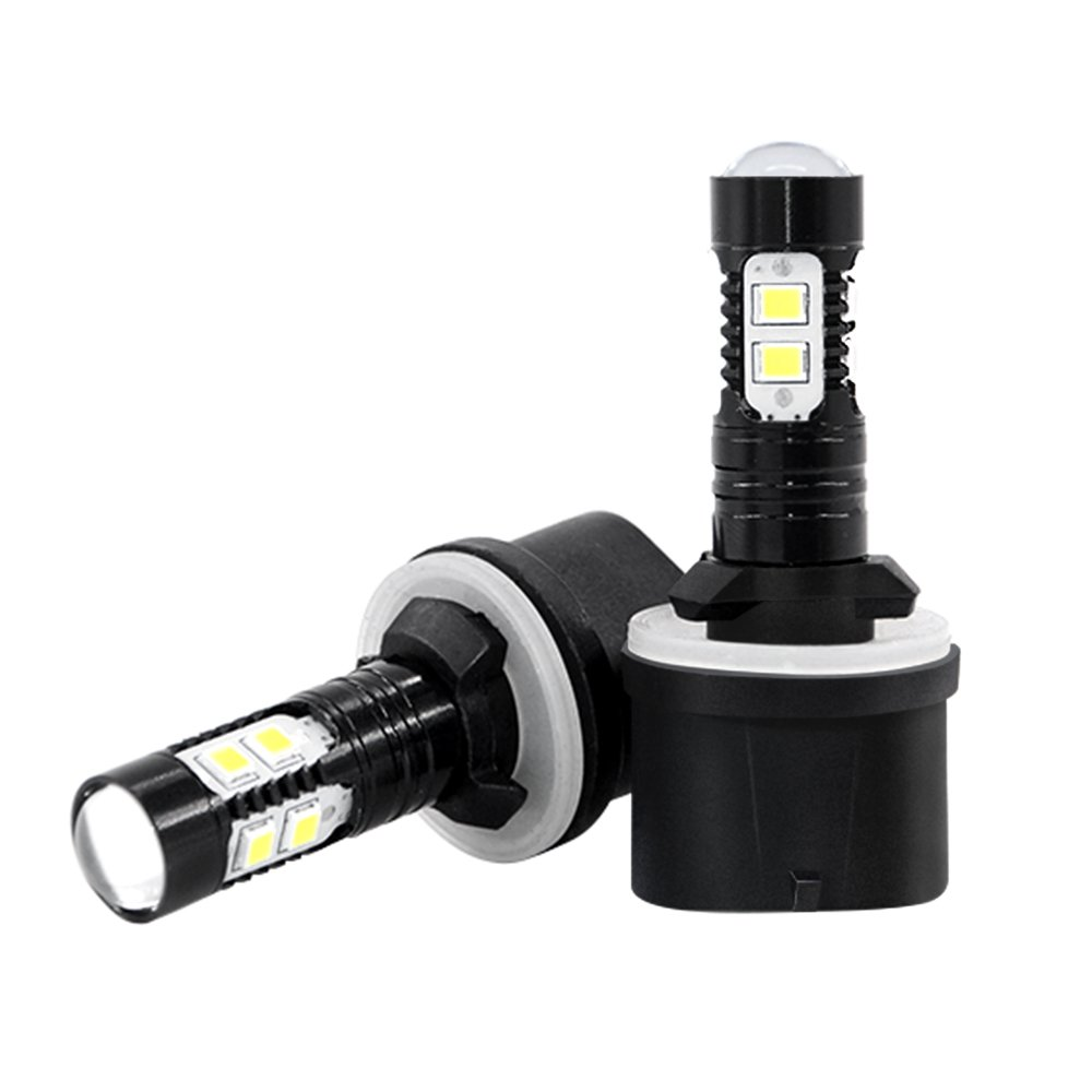 H8 LED Fog Light, Mesllin High Power Max 50w Super Bright 6000K Car LED Daytime Running Lights DRL Cool White Bulbs (H8)