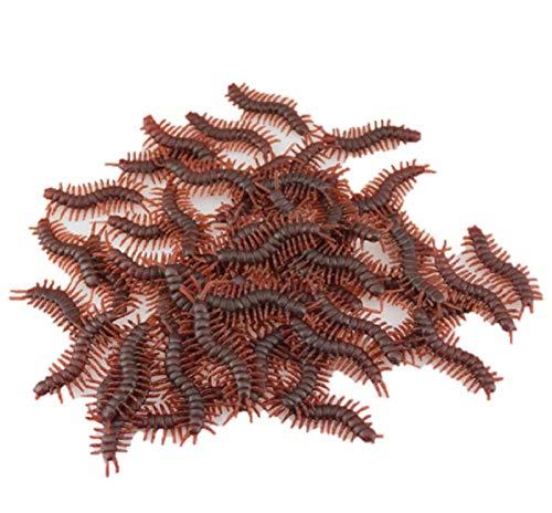 (15 Pcs/Set Prank Funny Trick Joke Toys Special Lifelike Simulation Fake Rubber Centipede Burmese Roller Bug Roaches Toy (15 Pcs,)
