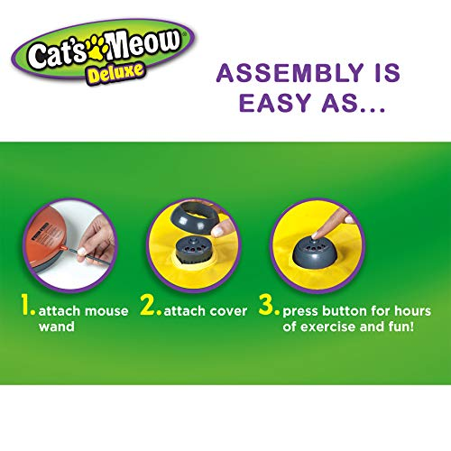 Cat's Meow- Motorized Wand Cat Toy, Automatic 30 Minute Shut Off, 3 Speed Settings, The Toy Your Cat Can't Resist 4