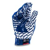 Under Armour Boys' Pee Wee F5 Football Gloves, Royal/White, One Size